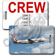 ABX AIR 767 CREW TAGS
