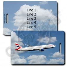 BRITISH AIRWAYS 777-236 LUGGAGE TAGS