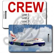BRITISH AIRWAYS A380 CREW TAGS