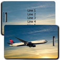 DELTA AIRLINES PERSONALIZED LUGGAGE TAGS