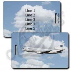 WORLD AIRWAYS WHITE DC10 LUGGAGE TAG