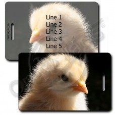 BABY CHICK LUGGAGE TAGS