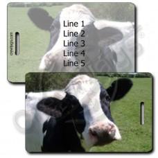 COW LUGGAGE TAGS - BLACK & WHITE