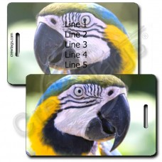 PARROT LUGGAGE TAGS - GREEN