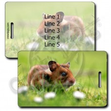 HAMSTER LUGGAGE TAGS