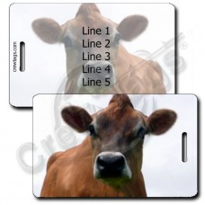 COW LUGGAGE TAGS - JERSEY