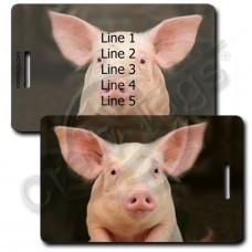PIG LUGGAGE TAGS
