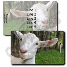 GOAT LUGGAGE TAGS - WHITE