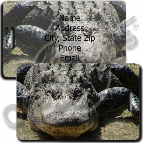 AMERICAN ALLIGATOR PERSONALIZED LUGGAGE TAGS