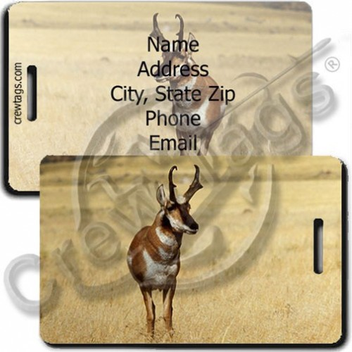 PERSONALIZED ANTELOPE LUGGAGE TAGS
