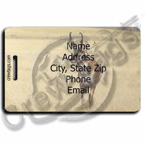ANTELOPE PERSONALIZED LUGGAGE TAG