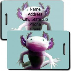 AXOLOTL PERSONALIZED LUGGAGE TAG