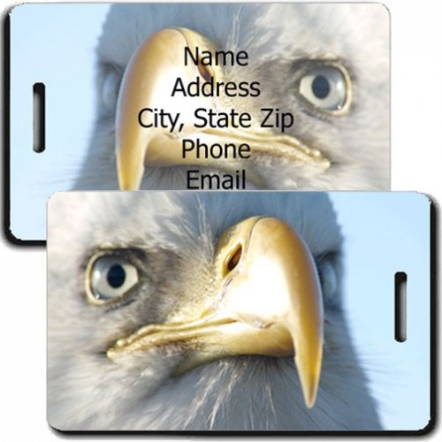 BALD EAGLE PERSONALIZED LUGGAGE TAG