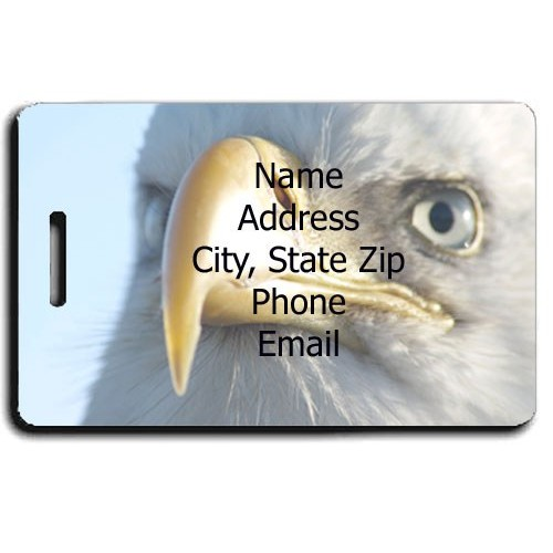 BALD EAGLE CUSTOM LUGGAGE TAG
