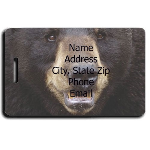 BLACK BEAR PERSONALIZED LUGGAGE TAG