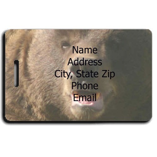 BROWN BEAR PERSONALIZED LUGGAGE TAG