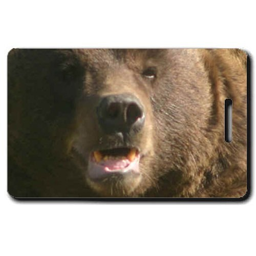 BROWN BEAR LUGGAGE TAG