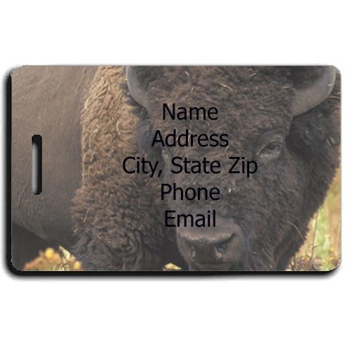 BISON PERSONALIZED LUGGAGE TAG