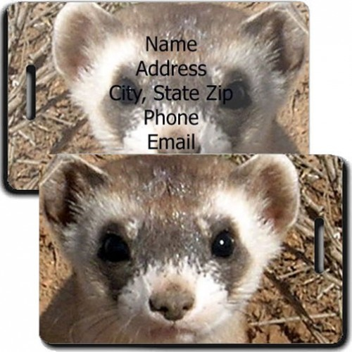 BLACK FOOTED FERRET LUGGAGE TAG