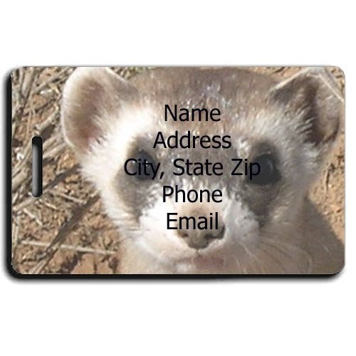 BLACK FOOTED FERRET PERSONALIZED LUGGAGE TAG