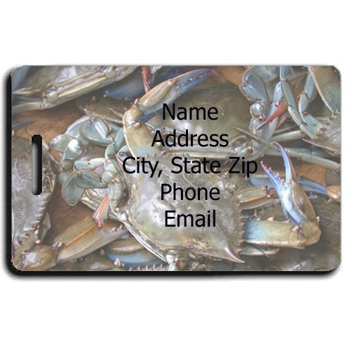 BLUE CRAB PERSONALIZED LUGGAGE TAG