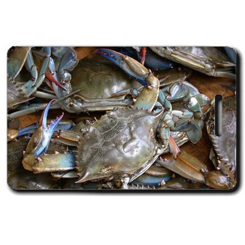 BLUE CRAB LUGGAGE TAG