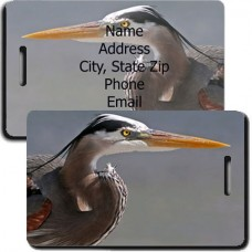 Blue Heron Luggage Tags