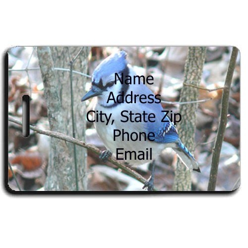 BLUE JAY PERSONALIZED LUGGAGE TAG