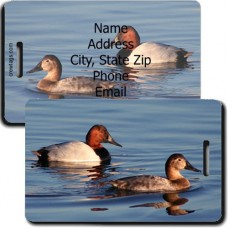 CANVASBACK DUCK LUGGAGE TAG