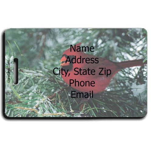 CARDINAL PERSONALIZED LUGGAGE TAG