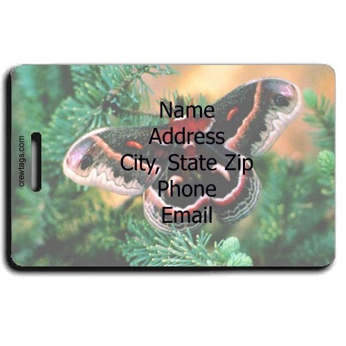 CECROPIA MOTH PERSONALIZED LUGGAGE TAG
