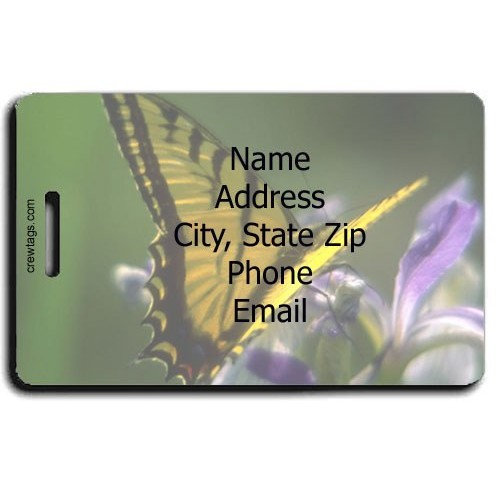 CECROPIA BUTTERFLY PERSONALIZED LUGGAGE TAG
