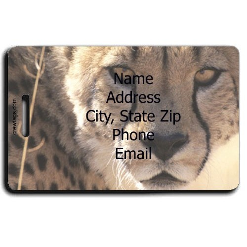 CHEETAH PERSONALIZED  LUGGAGE TAG