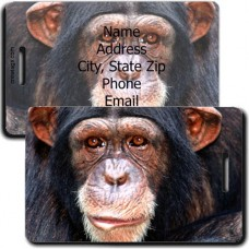 CHIMPANZEE PERSONALIZED LUGGAGE TAG