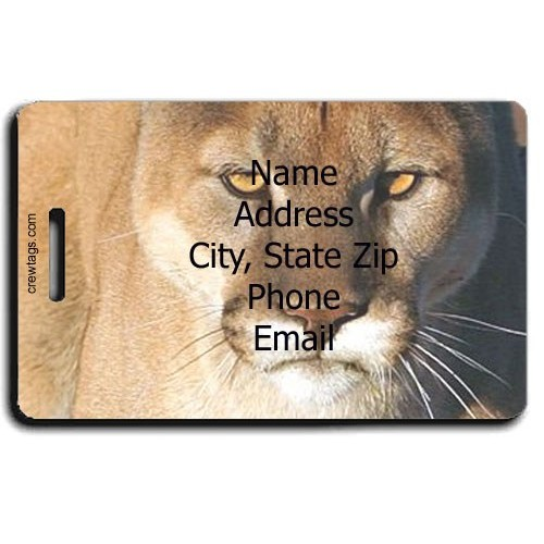 COUGAR PERSONALIZED LUGGAGE TAG