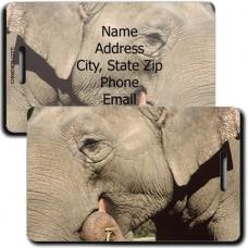 ELEPHANT PERSONALIZED LUGGAGE TAG