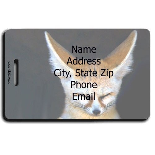 FENNEC FOX PERSONALIZED LUGGAGE TAG