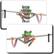 FROG PERSONALIZED LUGGAGE TAG