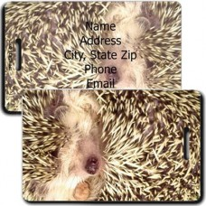 HEDGEHOG PERSONALIZED LUGGAGE TAG