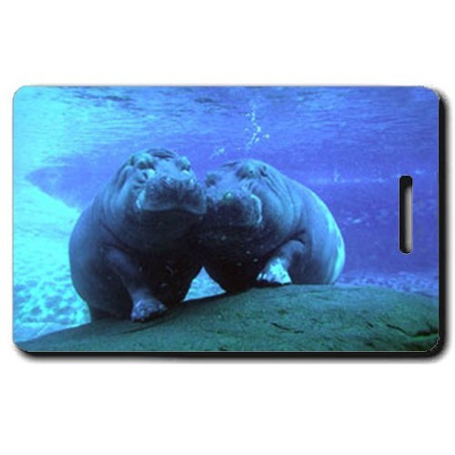 HIPPOPOTAMUS LUGGAGE TAG
