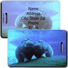 HIPPOPOTAMUS PERSONALIZED LUGGAGE TAG