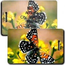 LANGES METALMARK BUTTERFLY PERSONALIZIED LUGGAGE TAG