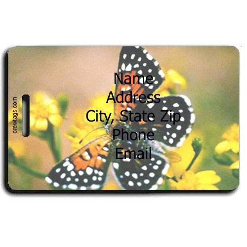 LANGES METALMARK BUTTERFLY PERSONALIZED LUGGAGE TAG