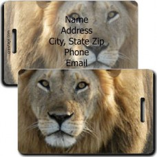 LION PERSONALIZED LUGGAGE TAG