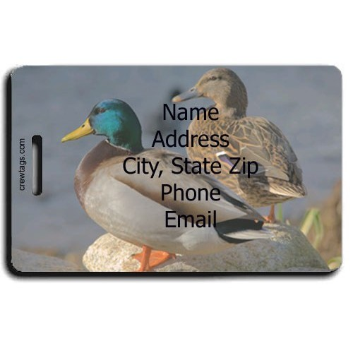 MALLARD DUCK PERSONALIZED LUGGAGE TAG