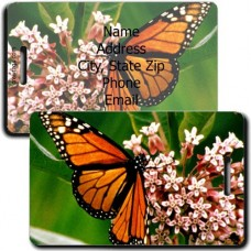 MONARCH BUTTERFLY LUGGAGE TAGS