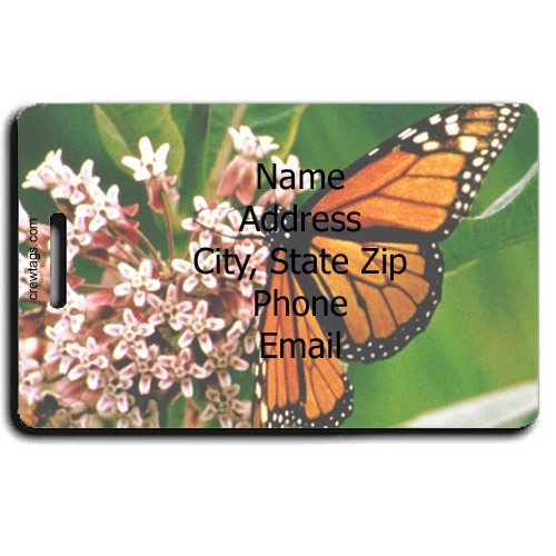 MONARCH PERSONALIZED BUTTERFLY LUGGAGE TAG