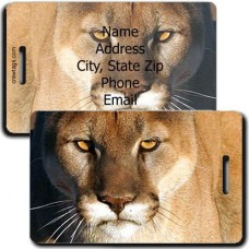 MOUNTAIN LION PERSONALIZED LUGGAGE TAG