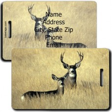 MULE DEER PERSONALIZED LUGGAGE TAG