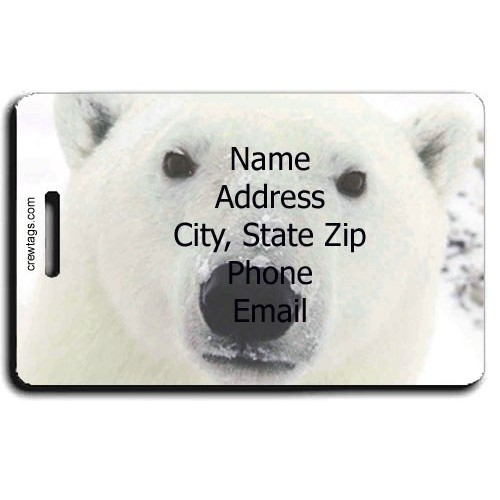 POLAR BEAR PERSONALIZED LUGGAGE TAG